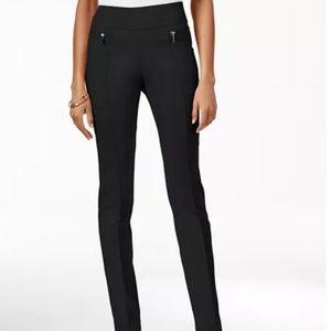 Macys Style&Co Black Zipper Pant Medium